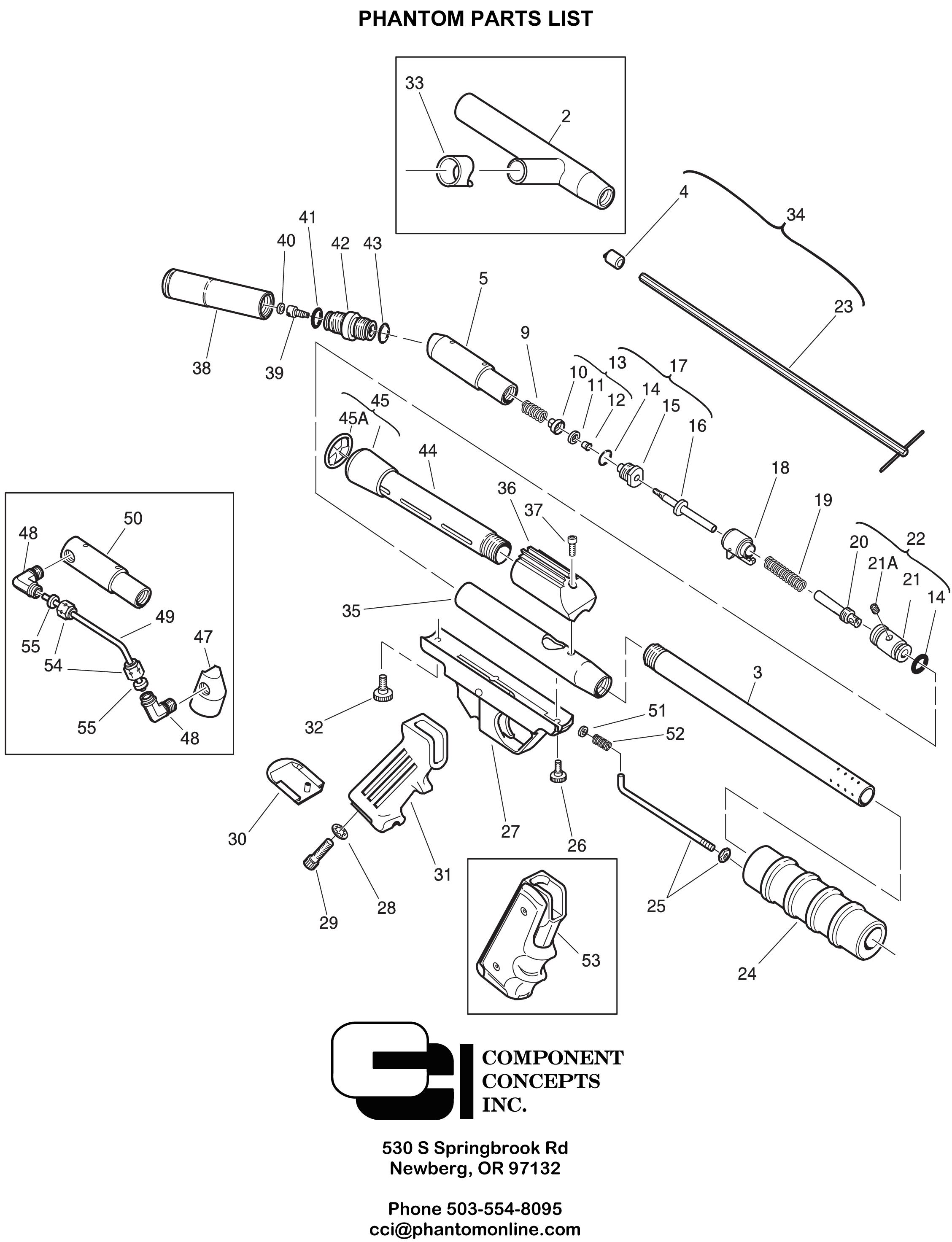 Vertical Air Adapter w/Screws